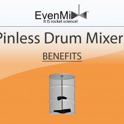 Even Mix™ Pinless Drum Mixers Benefits