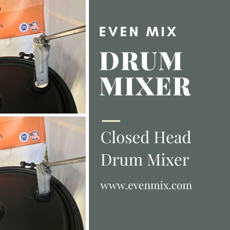 Closed head drum mixer